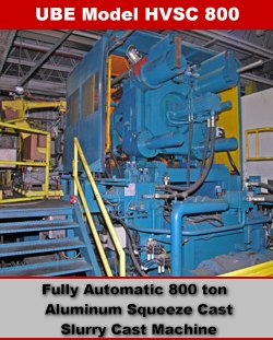 Ube HVSC 800 Automated Die Cast Machine Cell