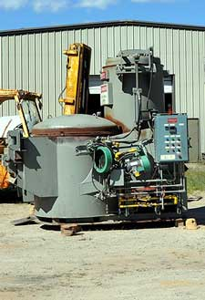 Modern Equipment Jet Melter AL-500 Shaft Type Tower Aluminum Melting/Holding Furnace