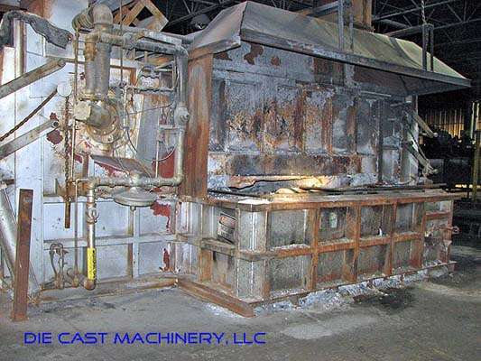 51,000 lb bath melting/holding furnace