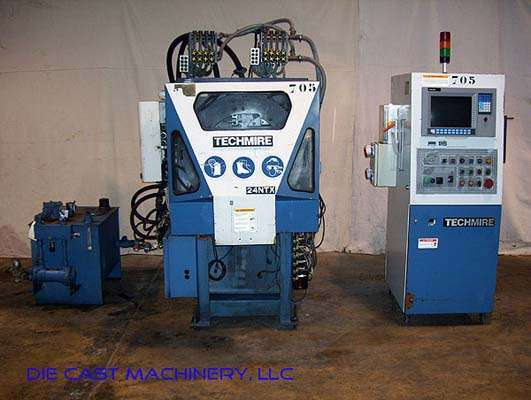 Picture of Techmire 24NTX Four Slide/Multi-slide Hot Chamber Zinc (Zamak) High Pressure Die Casting Machine For Sale DCMP-2173