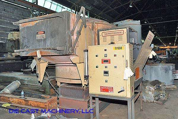 Model GC 2000 440 pound per hour aluminum melting and holding furnace