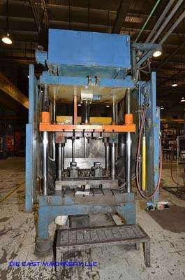 Picture of Metal Mechanics 50 Four Column (Post) Vertical Hydraulic Die Casting Trim Press For Sale DCMP-3142