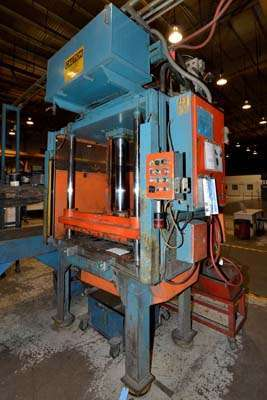 Picture of Metal Mechanics 50 Four Column (Post) Vertical Hydraulic Die Casting Trim Press For Sale DCMP-3143