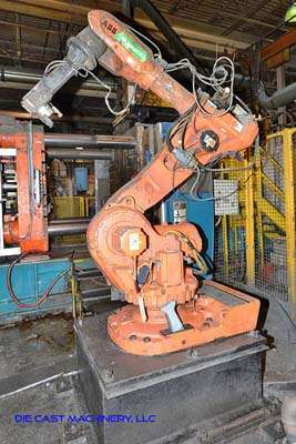 Picture of ABB IRB 6600 Six Axis Foundry Rated Industrial Robot with Extractor Package/Gripper for Extracting Die Castings For Sale DCMP-3191