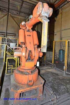 Picture of ABB IRB 6400 Six Axis Foundry Rated Industrial Robot with Extractor Package/Gripper for Extracting Die Castings For Sale DCMP-3195