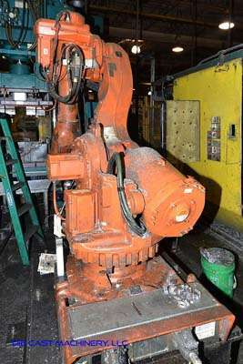 Picture of ABB IRB 6600 Six Axis Foundry Rated Industrial Robot with Extractor Package/Gripper for Extracting Die Castings For Sale DCMP-3200