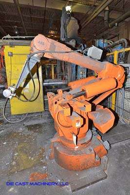 Picture of ABB IRB 6400 Six Axis Foundry Rated Industrial Robot with Extractor Package/Gripper for Extracting Die Castings For Sale DCMP-3218