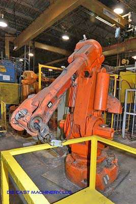 Picture of ABB IRB 6400 Six Axis Foundry Rated Industrial Robot with Extractor Package/Gripper for Extracting Die Castings For Sale DCMP-3232
