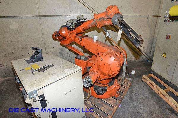 Picture of ABB IRB 4400 KT Six Axis Foundry Rated Industrial Robot with Extractor Package/Gripper for Extracting Die Castings For Sale DCMP-3234