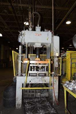Picture of Kard Trim Press  Four Column (Post) Vertical Hydraulic Die Casting Trim Press For Sale DCMP-3258