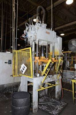 Image of Four Column (Post) Vertical Hydraulic Die Casting Trim Press For Sale DCM-3258