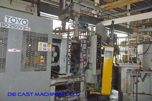 Picture of Toyo Machinery BD-250V3-C Horizontal Cold Chamber Aluminum High Pressure Die Casting Machine For Sale DCMP-3285