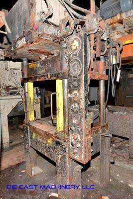 Image of Four Column (Post) Vertical Hydraulic Die Casting Trim Press For Sale DCM-3421