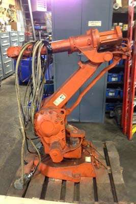 Picture of ABB IRB 2400L Six Axis Foundry Rated Industrial Robot with Extractor Package/Gripper for Extracting Die Castings For Sale DCMP-3652