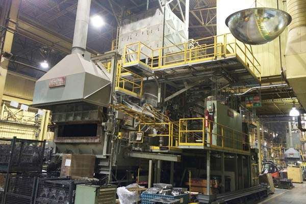 For Sale: One - Used Modern AL 5500, 5000 pounds per hour Aluminum Jet Melter Furnace
