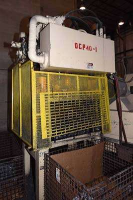 Image of Four Column (Post) Vertical Hydraulic Die Casting Trim Press For Sale DCM-3714