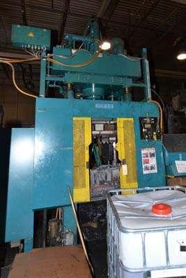 Used Reis Trim Press Three Column Post Vertical Hydraulic Die Casting Trim Press For