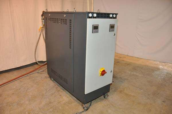 Temp Cooling Units : Used regloplas hot oil heater unit with cooling circuit