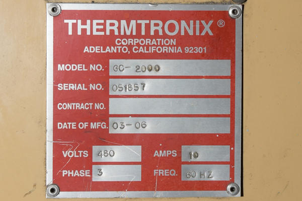 Picture of Thermtronix Dry Hearth Natural Gas Fired Aluminum Melting Furnace DCMP-4152