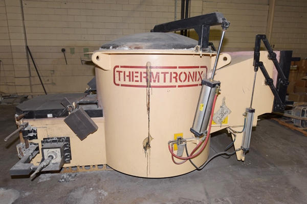 Picture of Thermtronix Dry Hearth Type Natural Gas Fired Stationary Aluminum Melting and Holding Furnace DCMP-4152