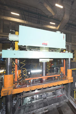Picture of Metal Mechanics Four Column (Post) Vertical Hydraulic Die Casting Trim Press DCMP-4157