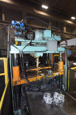 Image of Four Column (Post) Vertical Hydraulic Die Casting Trim Press For Sale DCM-4157