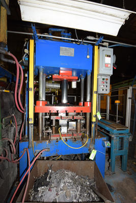 Picture of Kard Trim Press 30-TP-4 Four Column (Post) Vertical Hydraulic Die Casting Trim Press For Sale DCMP-4204