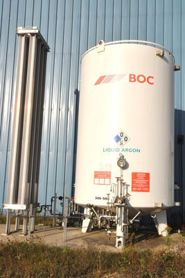 Used Ucar Tm3000 3 000 Gallon Cryogenic Bulk Storage Tank