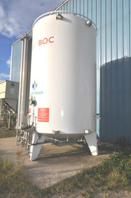 Used Ucar Cryogenic Bulk Storage Tank For Liquid Nitrogen