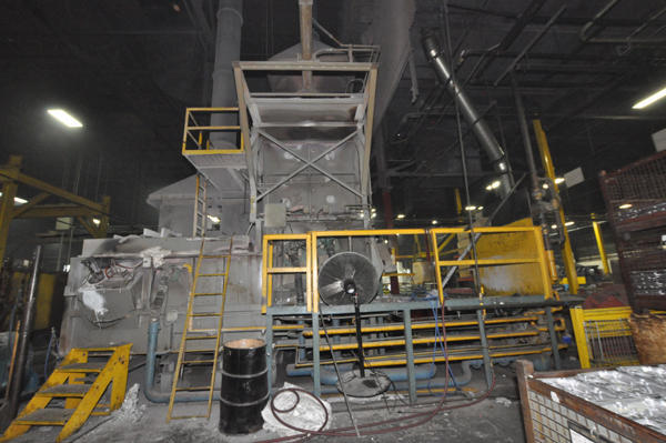 Picture of Modern Equipment AL-5000 Jet Melter Stack (tower/shaft) Type Stationary Aluminum Melting and Holding Furnace For Sale DCMP-4553